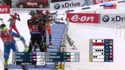 Биатлон 2014 2015  Эстафета Мужчины  15 02 2015  Холменколлен Норвегия