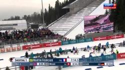 Биатлон  Кубок мира 2014 2015  Холменколлен  Спринт  Мужчины  14 02 15 HD